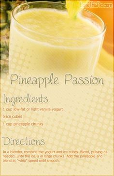 Pineapple Passion Smoothie Recipe smoothie recipe recipes easy recipes smoothie recipes smoothies smoothie recipe easy smoothie recipes smoothies healthy  smoothies healthy  smoothie recipes for weight loss