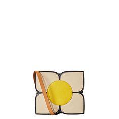 Orla Kiely | UK | bags | Mainline bags | Square Flower Applique Small Sling (alternative colour on reverse) (16SBSFA022) | black