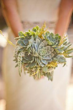 Something a little different - a succulent bridal bouquet.