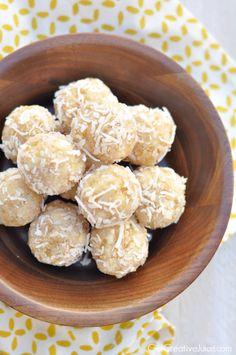 Aloha Energy Bites - Pineapple Coconut Protein Balls - Creative Juice