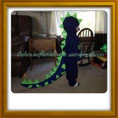 DIY Dinosaur Halloween costume Dinosaur Halloween Costume, Dino Costume, Halloween Party Costumes, Halloween 2016, Carnival Costumes, Diy Halloween Decorations, Holidays Halloween, Halloween Kids, Costume Ideas
