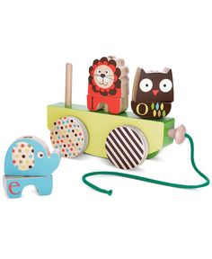 Skip Hop Baby Toy, Babys Alphabet Zoo Rock & Stack Pull Toy