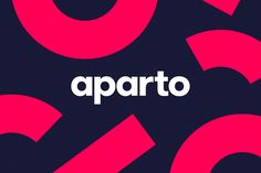 The Aparto brand celebrates the independence of apartment living and the sense o. Typo Logo Design, Best Logo Design, Branding Design, Graphic Design, Tech Branding, Kids Branding, Corporate Branding, Design Social, Web Design Quotes
