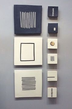 Black and White by Lori Katz. Slab built stoneware with slips:slip underglaze glaze metal leaf. Backed on wood and wired to hang on picture hooks. Easy to use hanging template included. Ceramic Wall Art, Ceramic Design, White Art, Black Wall Art, Ceramic Artists, Clay Art, Art Projects, Canvas Art, Ceramics