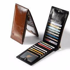 Cheap wallet purse, Buy Quality wallet plastic directly from China wallet business card holder Suppliers: Designer Chain Leather wallet, long style Crazy Horse Natural Cowhide Vintage Waxed Leather Purse,with handmade woven ro