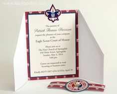 Eagle Scout Decorations   Eagle Scout Court of Honor Invitation and Scrapbook Layout - Golden ...