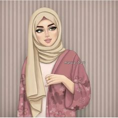 islamic girl cartoon & islamic girl _ islamic girls dpz _ islamic girl photography _ islamic girls name with meaning _ islamic girls dpz hijab fashion _ islamic girls dpz hidden face _ islamic girl cartoon _ islamic girl quotes Girly M, Beautiful Girl Drawing, Cute Girl Drawing, Beau Hijab, Hijab Drawing, Sarra Art, Hijab Cartoon, Hijab Style, Hijab Chic