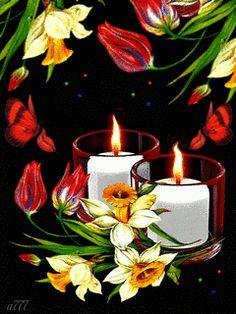 Свечи и цветы для тебя...