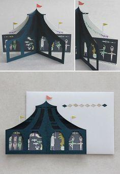 Midnight Circus #card #cutout #window