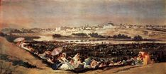 The Meadow of San Isidro on his Feast Day - Goya Francisco