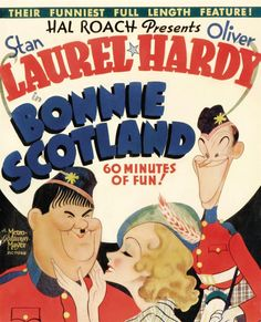 Poster - Bonnie Scotland-Hal Roach Laurel and Hardy film