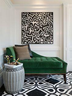 eggshell-home-green-sofa-chaise-black-white-gold-decor