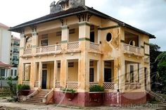 Colonial house, Battambang, Cambodia