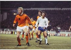 England 0 Holland 2 in Feb 1977 at Wembley. Trevor Francis and Wim Rijsbergen wait for a corner England Football Players, Football Team, Trevor Francis, Team Player, Coming Home, Seasons, Holland, Running, England International
