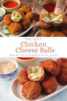 Chicken Snacks, Spicy Chicken Recipes, Baby Food Recipes, Snack Recipes, Cooking Recipes, Chicken Cheese Ball Recipe, Chicken Balls Recipe Indian, Ramzan Recipe, Chaat Recipe
