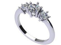 Anello trilogy diamanti www.gioiellioro.eu