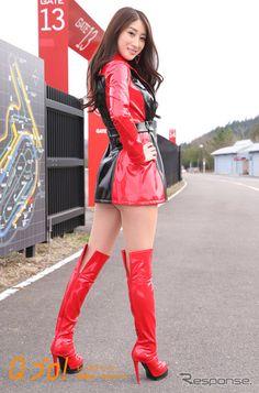 Asian Fashion, Girl Fashion, Pit Girls, Vinyl Dress, Promotional Model, Umbrella Girl, Asia Girl, Sexy Boots, Beautiful Asian Women