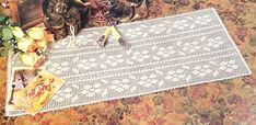 Floral Runner - When you place this lovely runner on your bureau or table, it will brighten up the whole room - Filet chart Crochet Doilies, Crochet Flowers, White Trellis, Wedding Shower Decorations, Table Runner Pattern, Sport Weight Yarn, Bridal Pictures, Crochet World, Flower Center