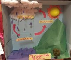 The water cycle 3D. 2nd grade project