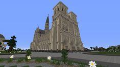Cathédrale Notre-Dame de Paris  #minecraft #cathédrale #notre #Dame #Paris Minecraft Create, Construction, Barcelona Cathedral, Mount Rushmore, Castle, Building, Youtube Minecraft, Travel, Architecture Design