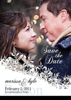 DIY Save the Date Winter Themed Template by BCanvasCreative Wedding Anniversary Photos, April Wedding, Diy Wedding, Wedding Photos, Dream Wedding, Wedding Day, Wedding Dreams, Wedding Tips, Wedding Stuff
