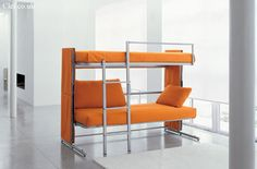 Doc sofa bunk bed...a couch that transforms into a bunk bed!
