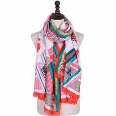 Printed Silk Scarves for Women Luxury Brand Autumn and Winter Hijab Scarf Shawls and Wraps for Ladies Womens High Fashion 2017