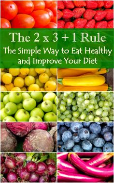 The 2 x 3 + 1 Rule - The simple way to eat healthy and improve your diet. Healthy eating   Healthy living   Diet advice