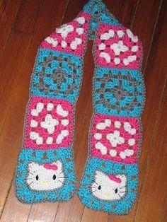 crochet hello kitty scarf