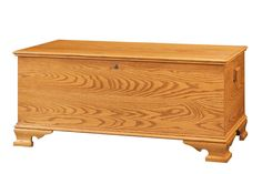 Amish Oak Wood Reproduction Large Hope Chest with Cedar Bottom Amish Hope Chest Collection The large size hope chests come with a beautiful ogee bracket foot and moulding, cedar bottom and lock.