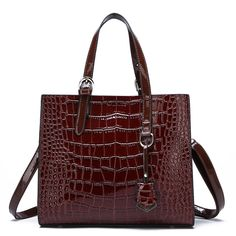 Bag women patent leather handbag luxury crocodile tote shoulder famous brands designer main – Purses And Handbags For Teens Popular Handbags, Cute Handbags, Cheap Handbags, Luxury Handbags, Purses And Handbags, Hobo Handbags, Fall Handbags, Luxury Purses, Guess Handbags
