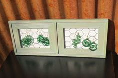 Wide Green Jewelry Display Wall Necklace Holder. $30.00, via Etsy.