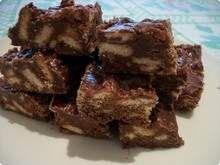 Palha italiana com chocolate meio amargo. Uhmmmm!
