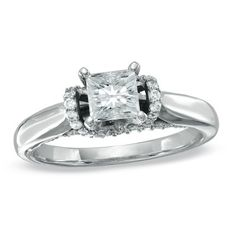 Celebration 102™ 1-1/5 CT. T.W. Princess-Cut Diamond Solitaire Engagement Ring in 18K White Gold (I/SI2)