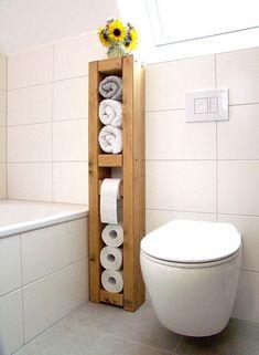 22 DIY Toilet Holder Ideas Whıch Enhance The Look Of Your Toilet 22 Diy Toilet Holder Ideas Wh?ch Enhance The Look Of Your Toilet! The post 22 DIY Toilet Holder Ideas Whıch Enhance The Look Of Your Toilet appeared first on Badezimmer ideen. Bathroom Organization, Bathroom Storage, Bathroom Interior, Small Bathroom, Bathroom Towels, Bathroom Remodeling, Bathroom Ideas, Neutral Bathroom, Funny Bathroom