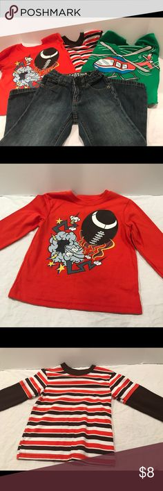 3T BOYS CLOTHING PACKAGE 3 long sleeve shirts. 1 Pair of jeans. 3T Boys. All Like New. No stains or signs of wear. Shirts & Tops Tees - Long Sleeve