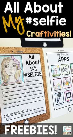 All About Me Back to School Activity Freebie! Fun Smartphone Craftivity for Students