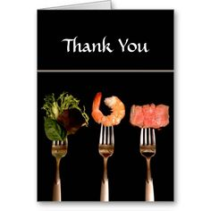 Sold! Dinner Party Thank You Card