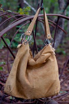 Anna Suede Handbag - Handcrafted by artisans in Ecuador.
