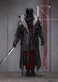 Futuristic Samurai, Futuristic Art, Sci Fi Armor, Samurai Armor, Character Concept, Character Art, Concept Art, Fantasy Weapons, Sci Fi Fantasy