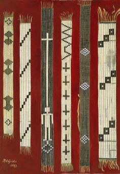 Photo of various wampum belts