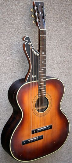 1900s Regal Harp Guitar