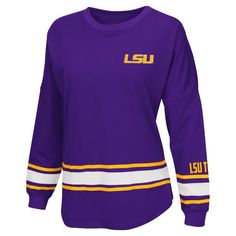 """LSU+Tigers+""""All+Round""""+Women's+Oversized+Tee+by+Colosseum"""