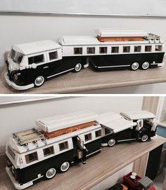 Lego vw - New Ideas- Kombi Trailer, Kombi Motorhome, Trailers, Campervan, Lego Technic Truck, Lego Truck, Lego Camper, Lego Cars, Technique Lego