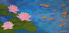 "Saatchi Art Artist Liza Wheeler; Painting, ""Last Song of Summer - large lotus flower painting"" #art"