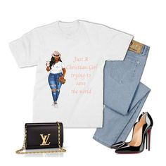 Just A Christian Girl Trying To Change the World Tee - Xlarge