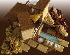 modernist gingerbread houses