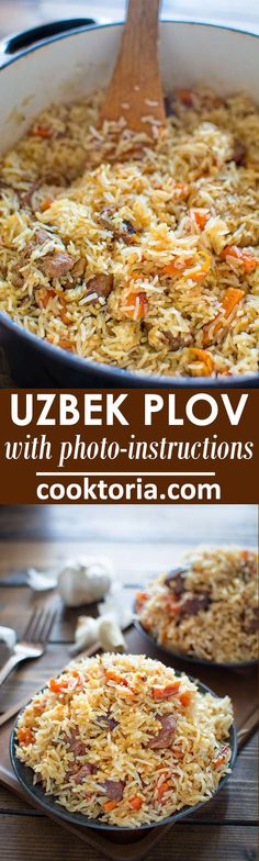 This is a classic recipe for a loved-by-everyone Uzbek Plov, also called Pilaf. My simple photo instruction will help you cook it to perfection.COM (simple food recipes) Lamb Recipes, Pasta Recipes, Chicken Recipes, Dinner Recipes, Cooking Recipes, Healthy Recipes, Hamburger Recipes, Flour Recipes, Turkey Recipes