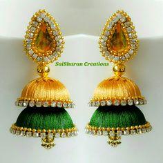 Silk Thread Jhumkas