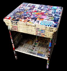 Ruben Iglesias. Side table from recycled paper.